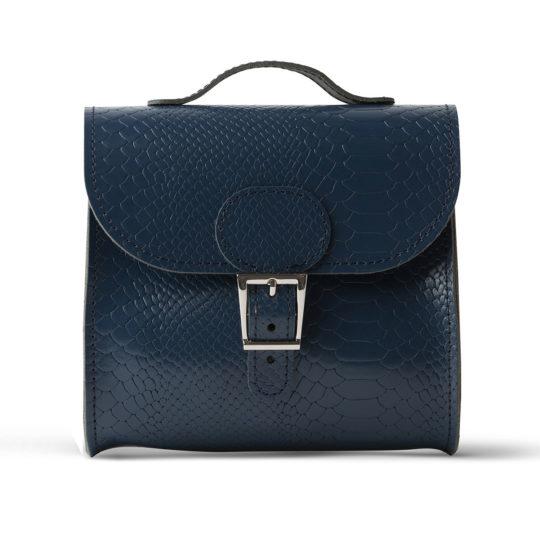 Brit-Stitch Brit-Luxe Shoulder Bag Insignia Blue Croc