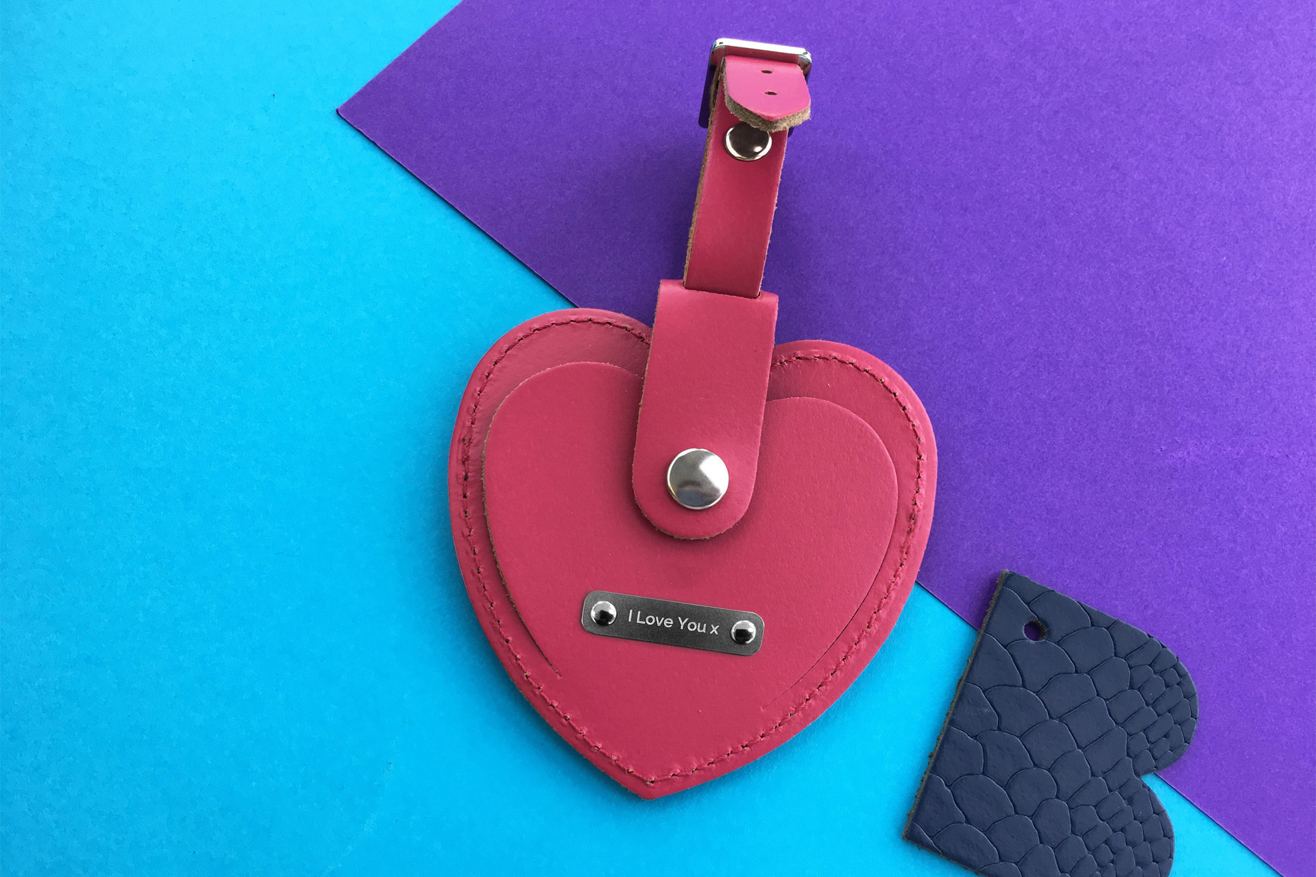HEART LUGGAGE TAG £15.00, £22.50 Personalised