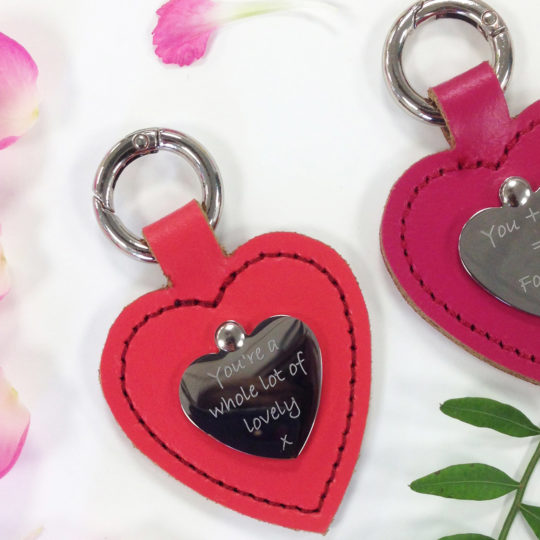 Brit-Stitch Personalised-Heart-Keyring