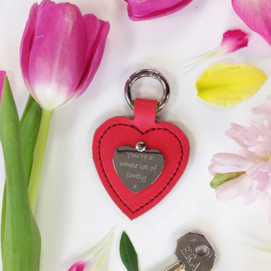 Brit-Stitch Personalised Heart Keyring